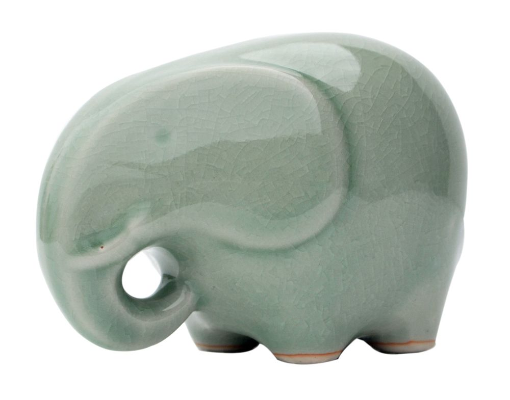 celadon happy elephant  Asian Art Imports Store