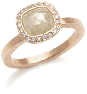 Todd Reed Pale Yellow & White Diamond Ring
