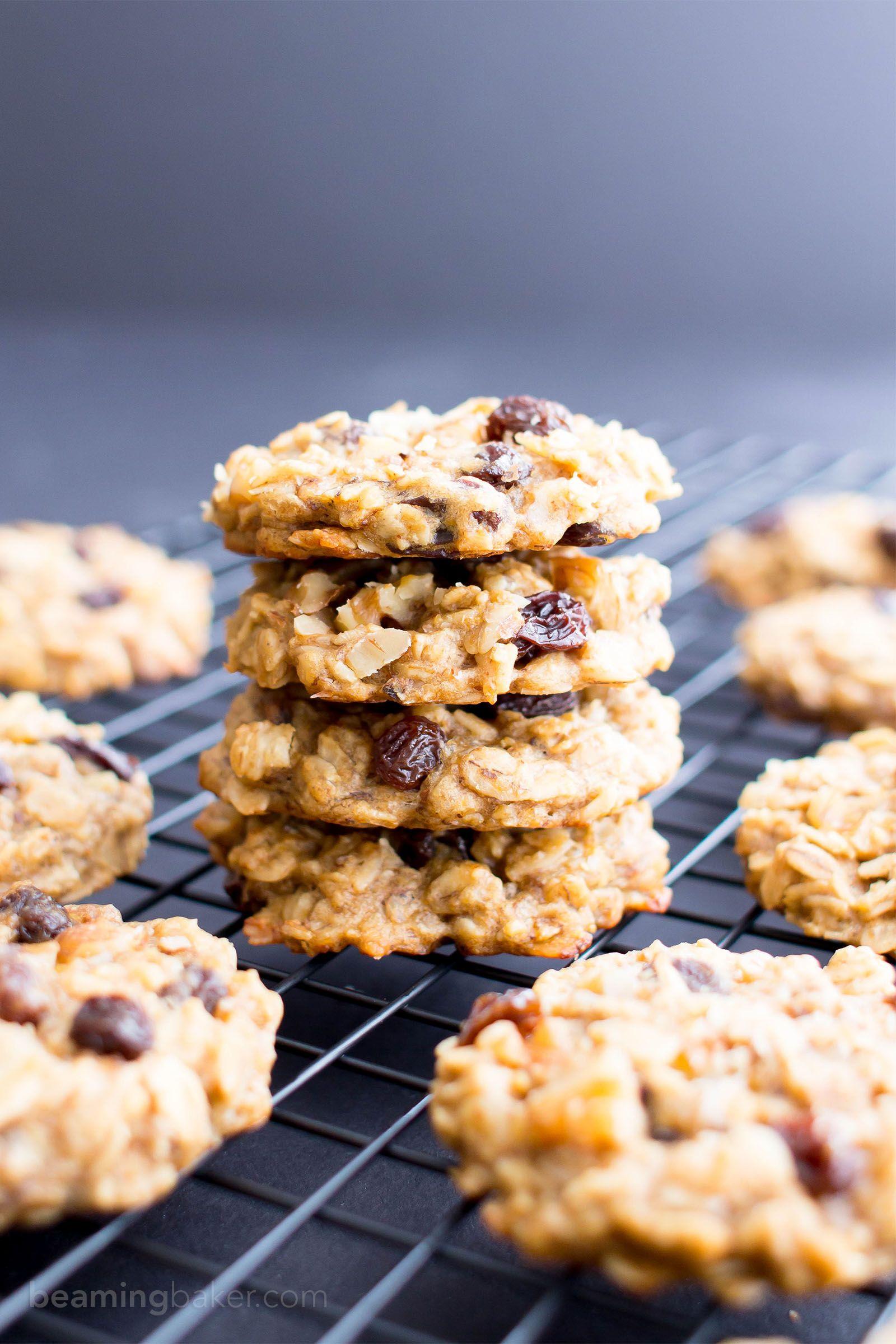 Easy Vegan Peanut Butter Banana Breakfast Cookies Gluten Free V