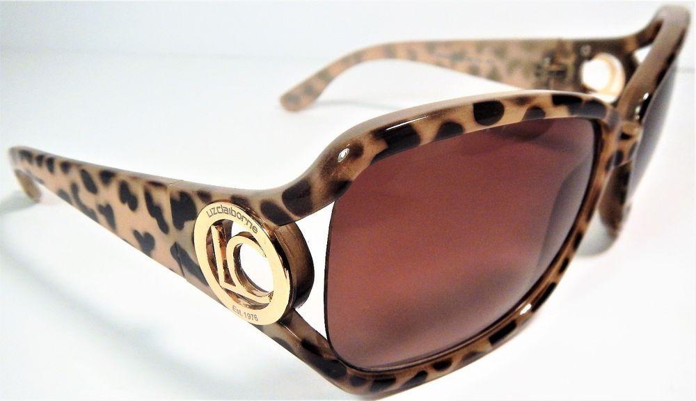 Liz Claiborne Sunglasses Animal Print w/Gold Logo\'s 60/14/107 85702