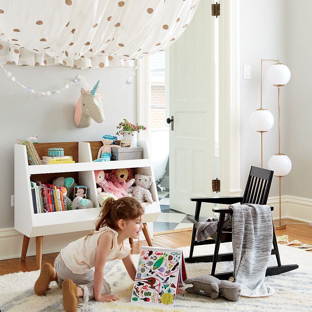 Walnut and White MidCentury Bookcase Mid century