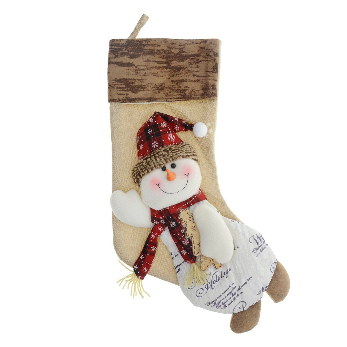 93024a1bf3f Saim 17 Inch Xmas Stockings 3D Christmas Snowman Stocking Holiday Festive  Cute Hanging Decorations   See this great product. (This is an affiliate  link)