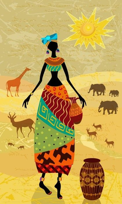 Art Print: #56640036   African wall art, Africans and African art