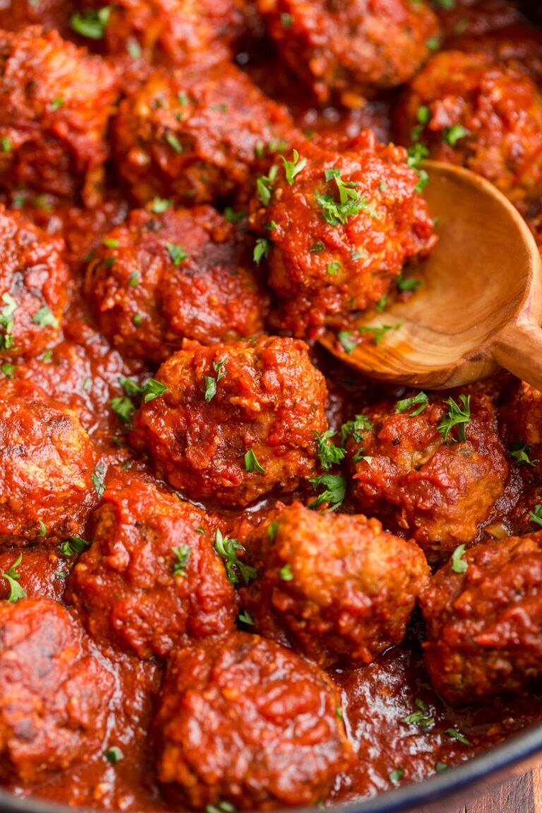 Juicy homemade meatballs are makeahead, freezer friendly