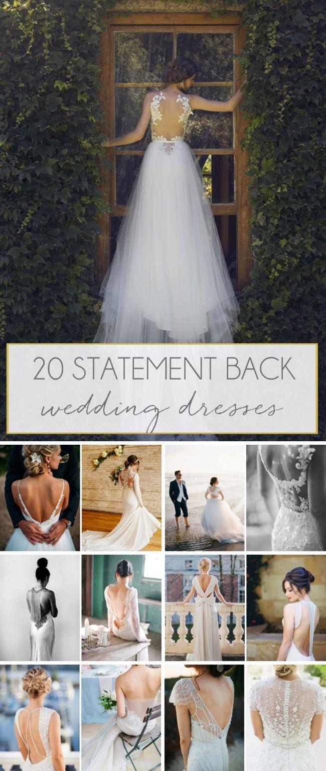 Statement Back Wedding Dresses  Wedding dress and Weddings