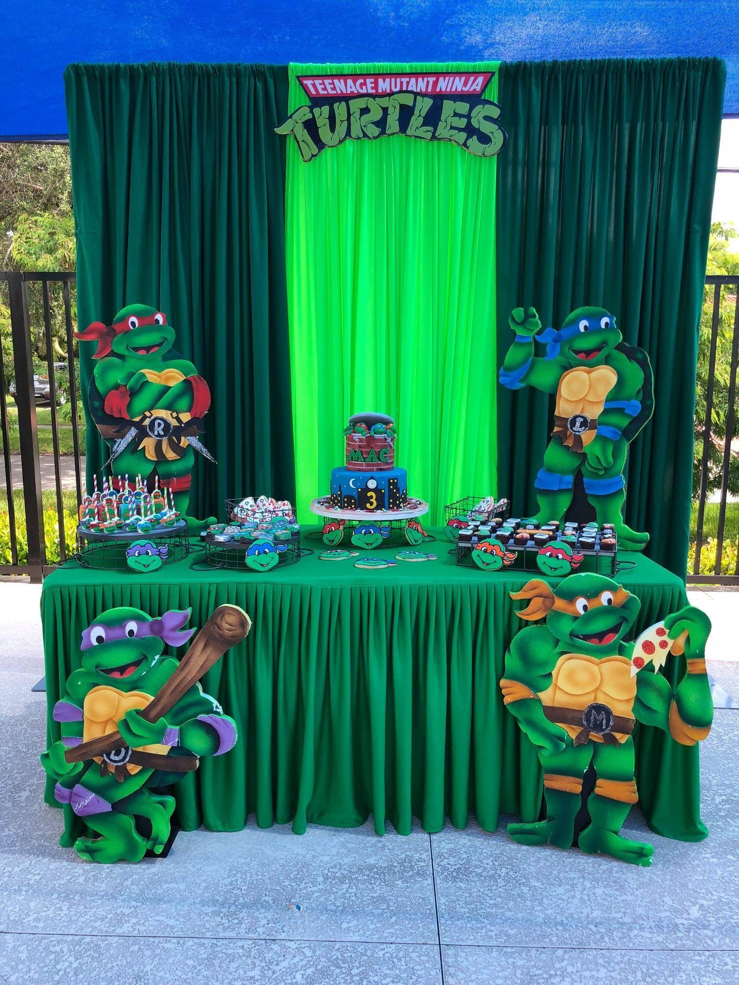 Pin By Ivania Barahona On Ninja Turtles Ninja Turtles Birthday Party Ninja Turtle Theme Party Ninja Turtle Birthday