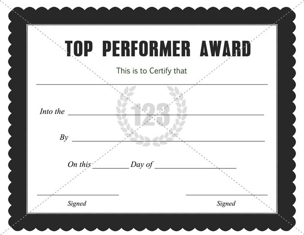 Top Performer Award Certificate Template Download Free PDF - best of recognition award certificate wording