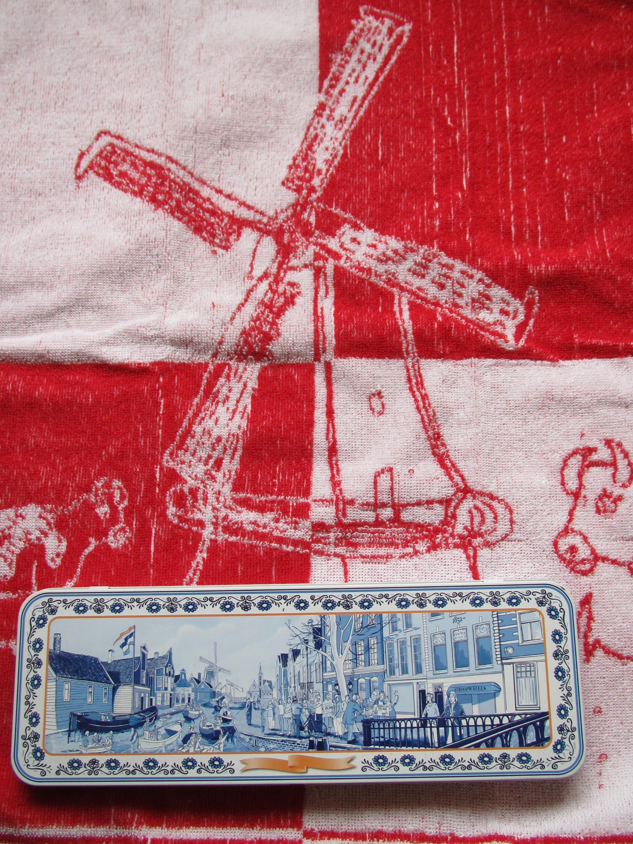 Towel And Box With Old Dutch Paintings Of Windmills And Houses Holland Souvenir The Netherlands Windmill Old Dutch Holland