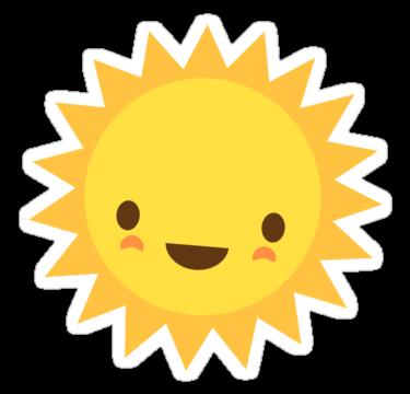 Cute Kawaii Sun Cartoon Character Sticker By Mhea Kids Art Projects Cartoon Sun Drawing For Kids