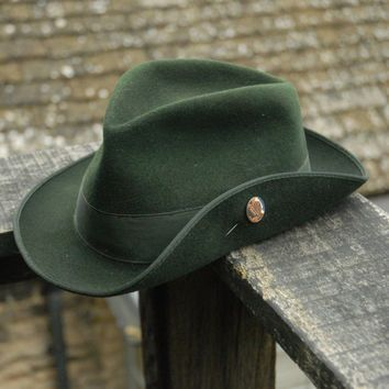 Vintage Traditional Hunting Hiking Bavarian Shooting Trachtenhut Tyrolean  Felt Fedora Trilby Hat UK 4bb8f13dcf8
