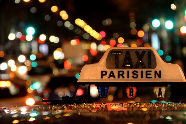 "parisbeautiful: ""[045365] A taxi ride into the bokeh (explored) by pylm on Flickr. """