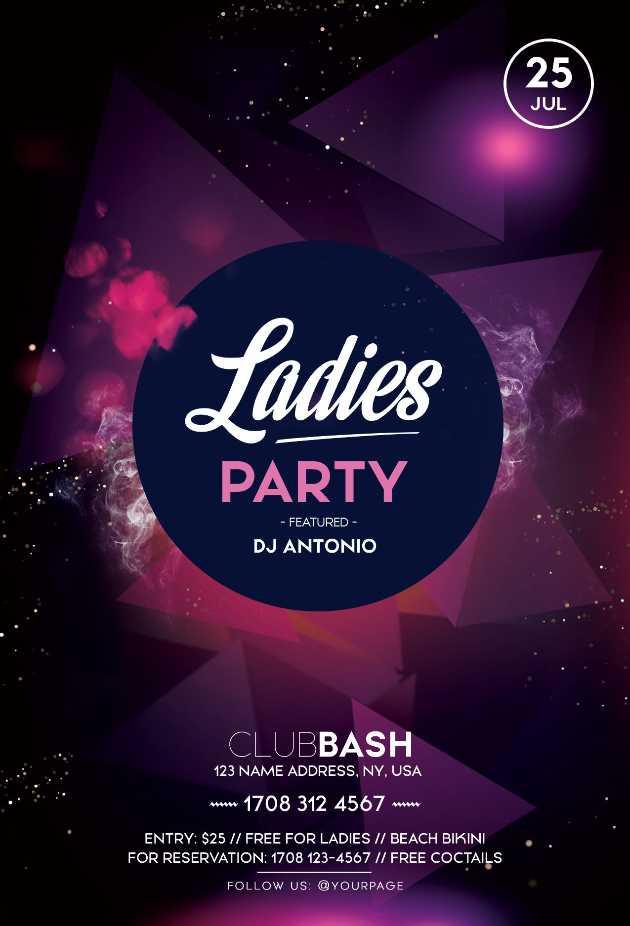 Ladies Party Psd Free Flyer Template Pixelsdesign Free Psd Flyer Templates Free Psd Flyer Free Flyer Templates