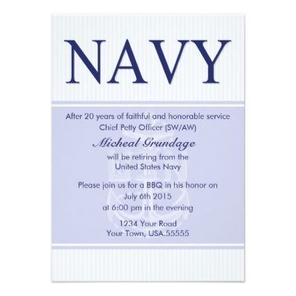 Military Retirement Idea Chief Retirement Party Invitations Throw
