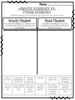 Growth Mindset Worksheet Growthmindset For The Classroom