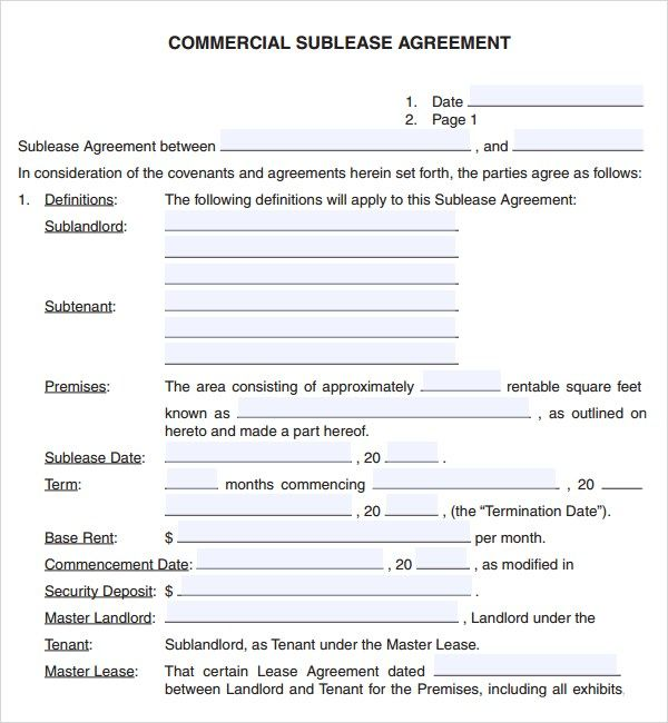 Free Commercial Lease Agreement Template | Free Commercial Lease Agreement Template Download The Agreement