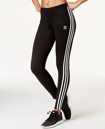 Adidas adidas Originals Logo Striped Leggings from Macys   People