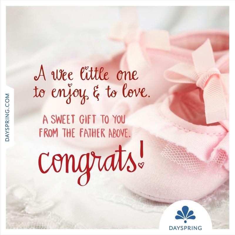 Dayspring ecards new baby girl congratulations
