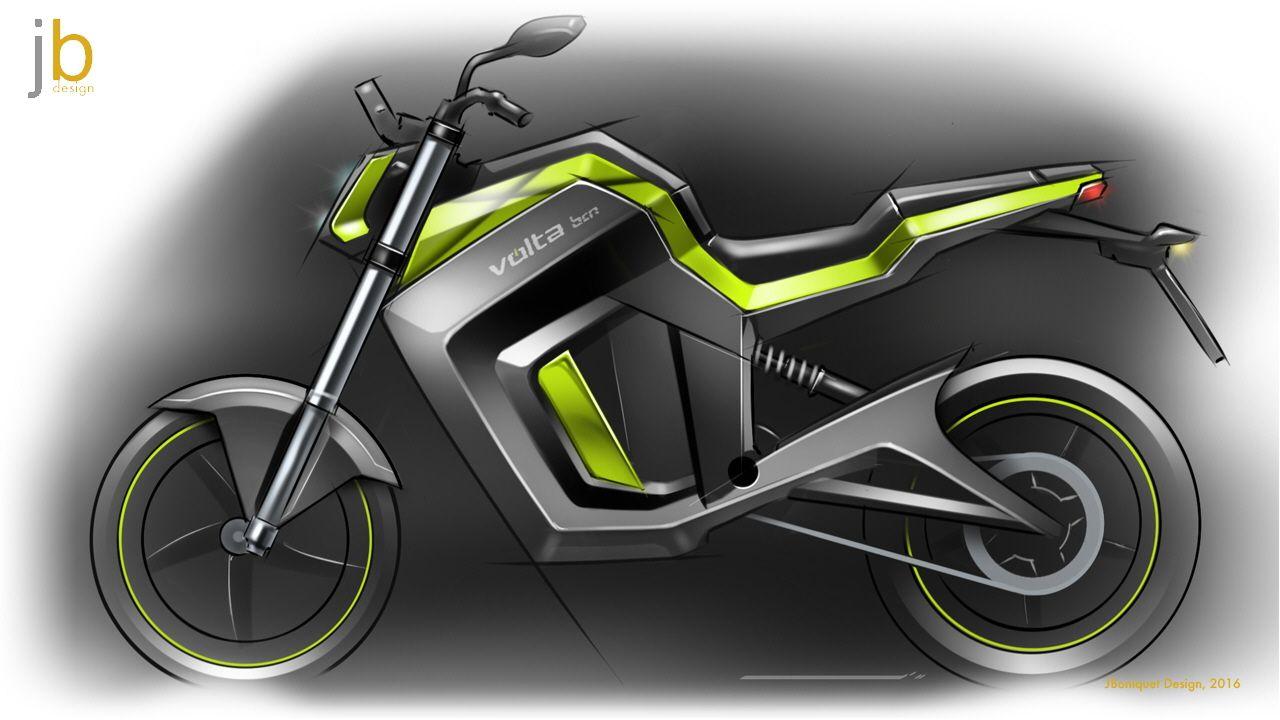 Urban Electric Motorbike For Volta Motorbikes Spain Red Dot