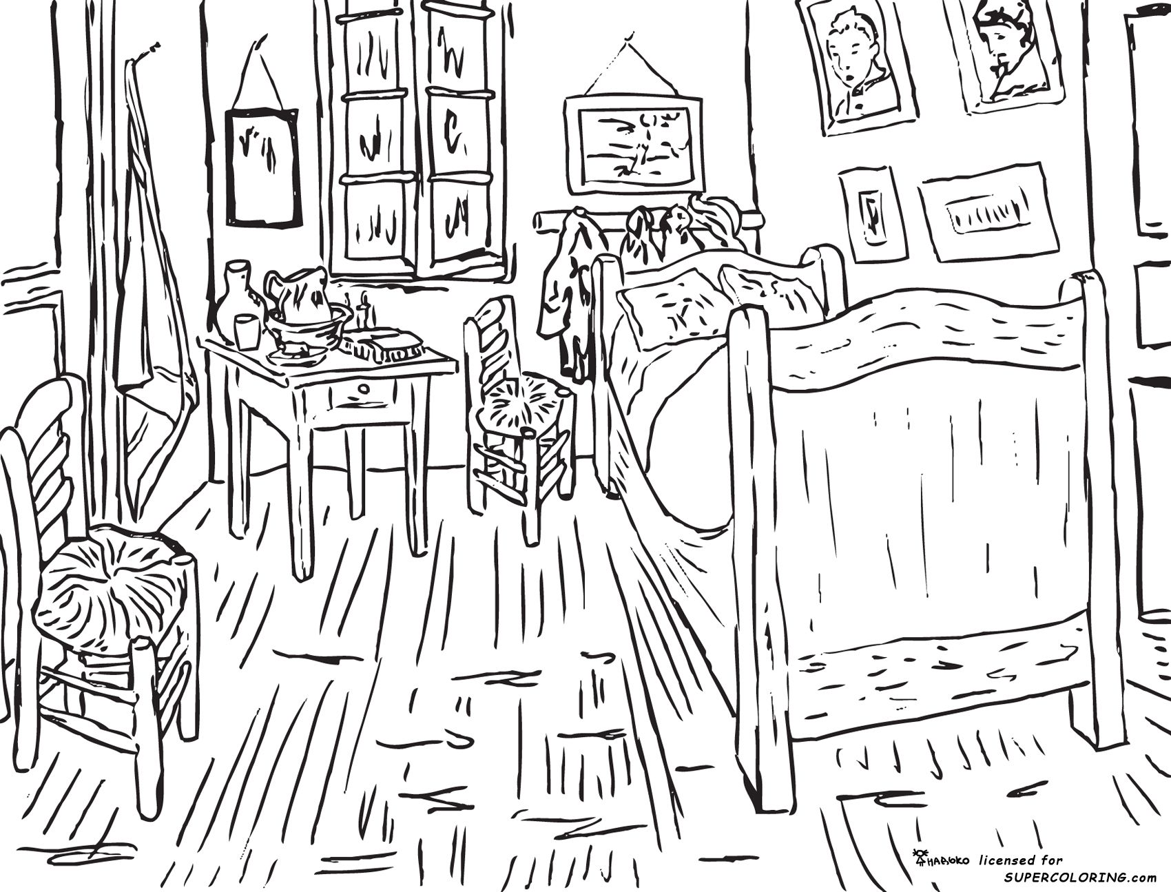 Van Gogh Coloring Pages 3 Free Printable Coloring Pages