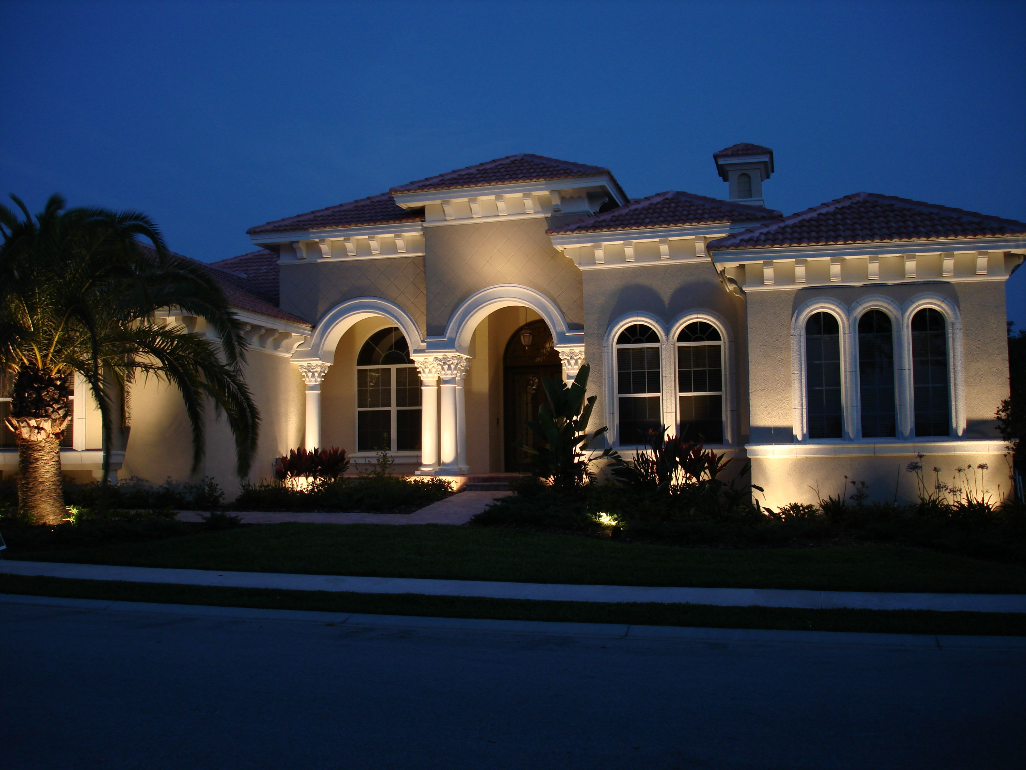 lighting outdoor lighting tampa nighttime lighting design - Landscape Lighting Design Ideas