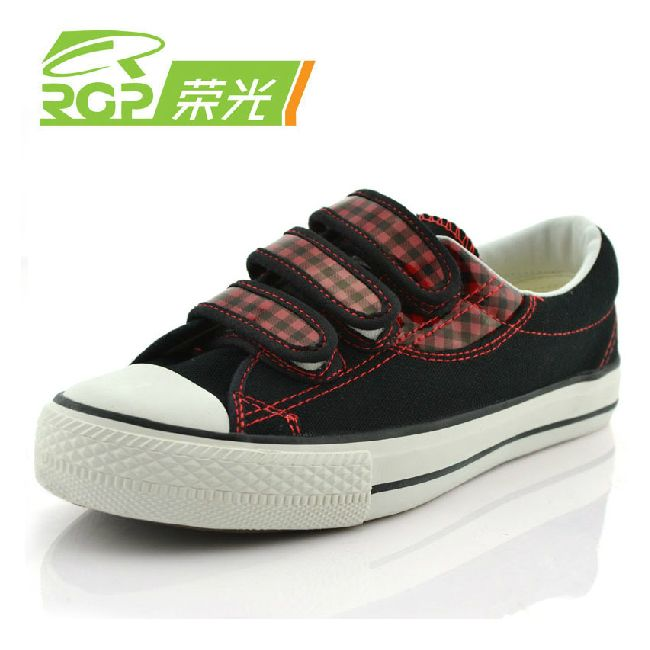 Glory rgp the trend plaid canvas shoes female velcro low cotton made plaid shoes women's shoes-inSneakers from Shoes on Aliexpress.com