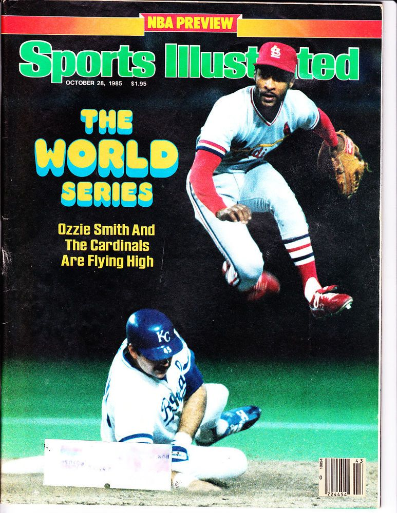 1985 Sports Illustrated Ozzie Smith St. Louis Cardinals