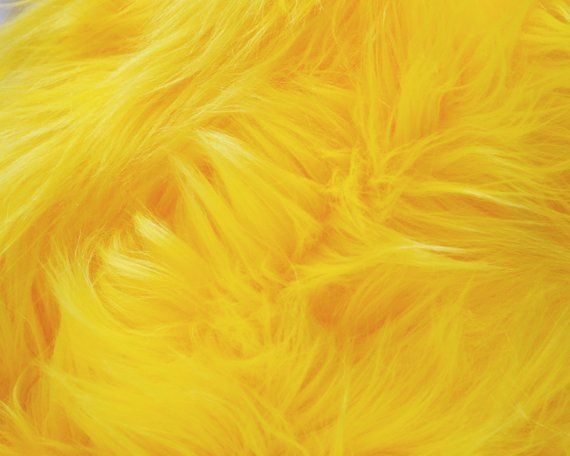 Yellow Faux Fur Fabric In Craft Squares Yellow Faux Fur Yellow