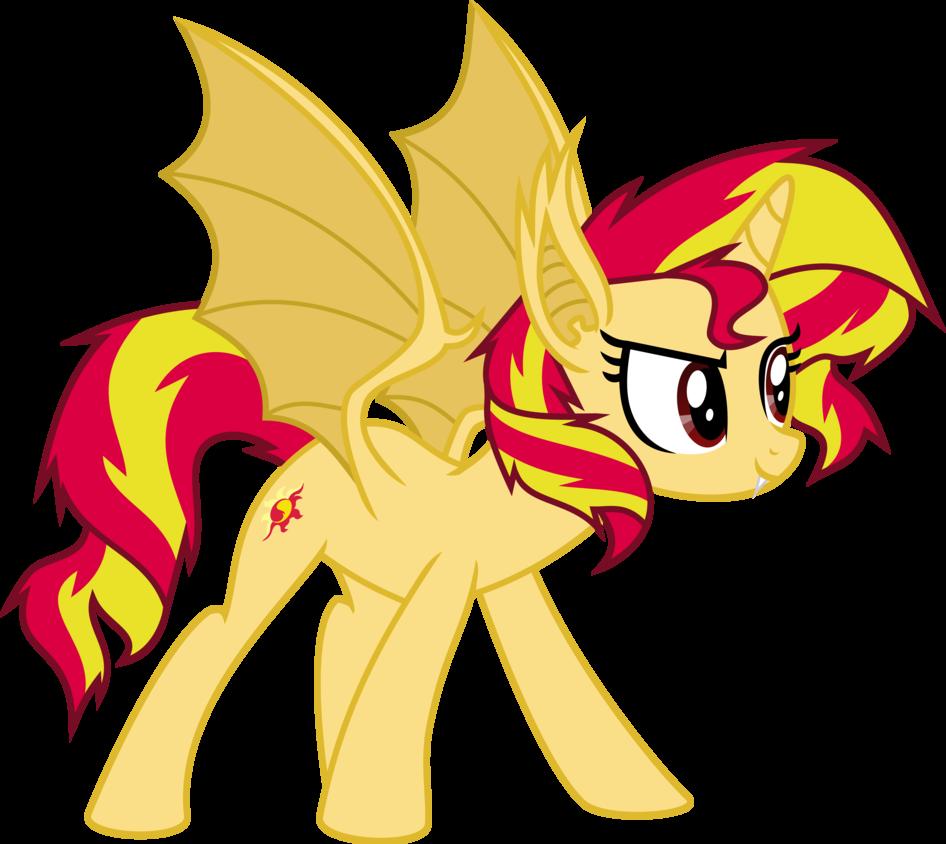Sunset Shimmer Vampire Bat Pony By Elsia Pony Mlp Pinterest
