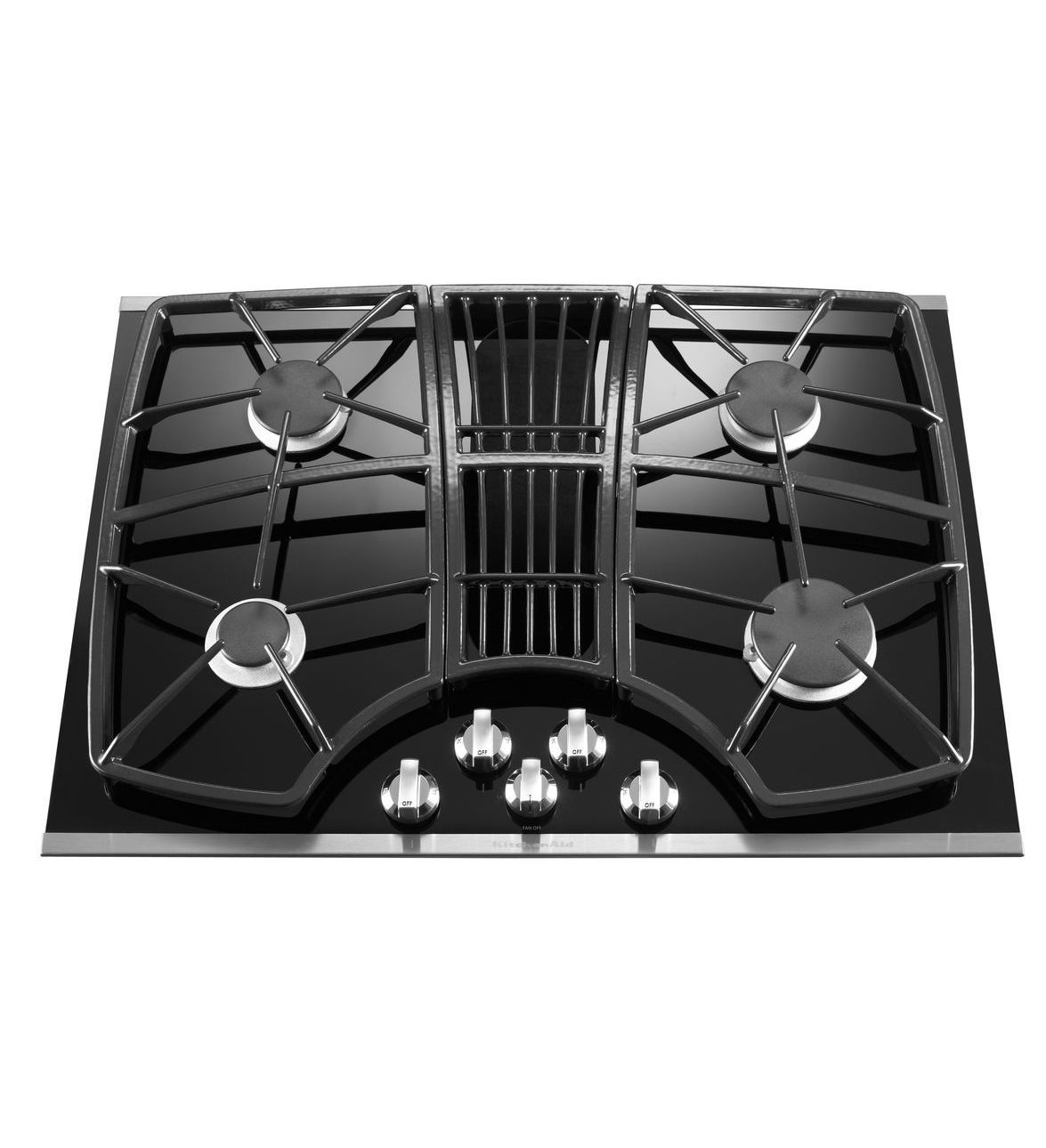 Kitchenaid 30 Inch 4 Burner Downdraft Gas Cooktop Architect Series Ii Kgcd807xss Stainless Steel Gas Cooktop Kitchen Aid Kitchen Aid Appliances