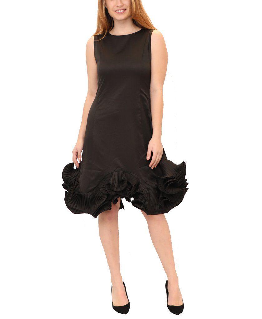 Dress W Ruffle Pleated Bottom Dresses Little Black Dress Black Sleeveless Dress [ 1024 x 841 Pixel ]