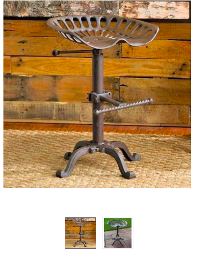 From Ebay Only 163 55 With Images Tractor Seat Bar Stools Rustic Tractor Seat Bar Stools