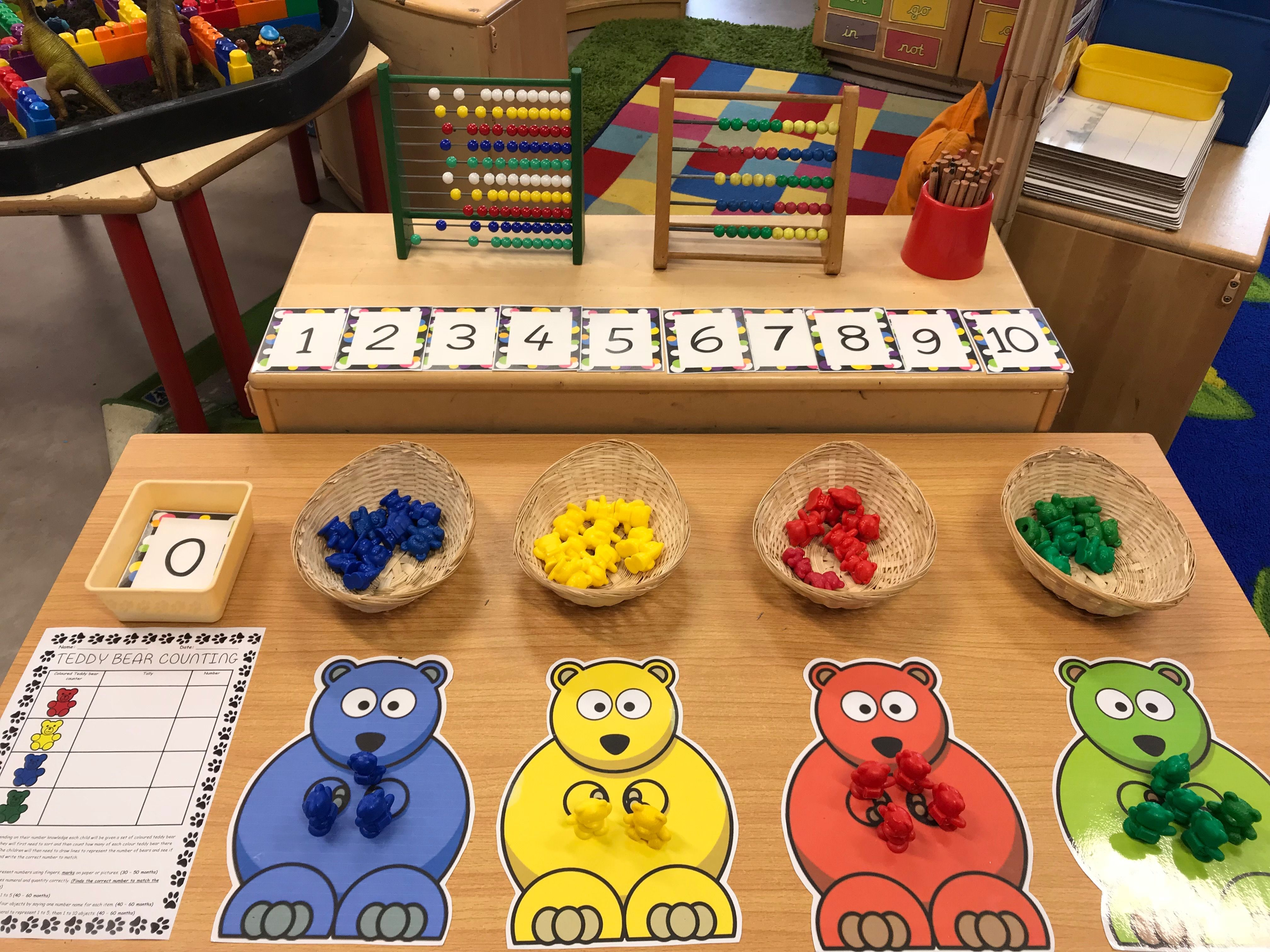 Eyfs Maths Sorting And Counting Coloured Teddy Bear