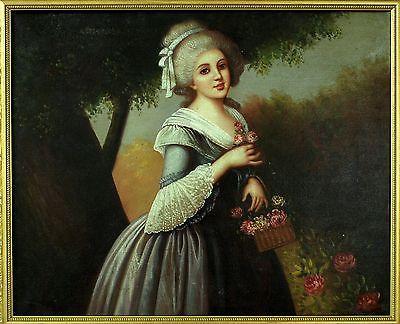 """ANTIQUE BAROQUE  ENGLISH OIL PAINTING ON CANVAS """" PORTRAIT OF A LADY"""" 1700-1750 https://t.co/ALvfdiMXbX https://t.co/NcpAnkGYaT"""