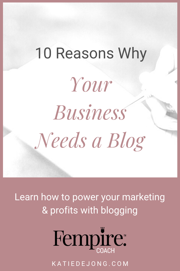 Have you wondered whether blogging adds value to your business or not? Here are ten reasons why you should be making blogging an integral part of your business. #businesscoach #fempire #fempirecoach#SEO #blog #blogging #businesssuccess #workfromhome #laptoplifestyle #entrepreneur #womeninbusiness #ladyboss #smallbusiness #businessowner #inboundmarketing