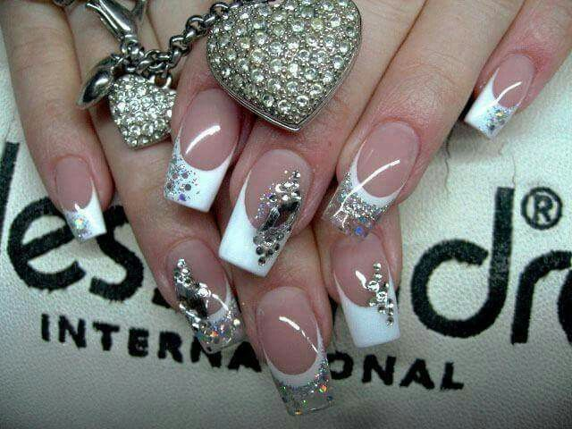 French Acrylic Nails Designs Papillon Day Spa