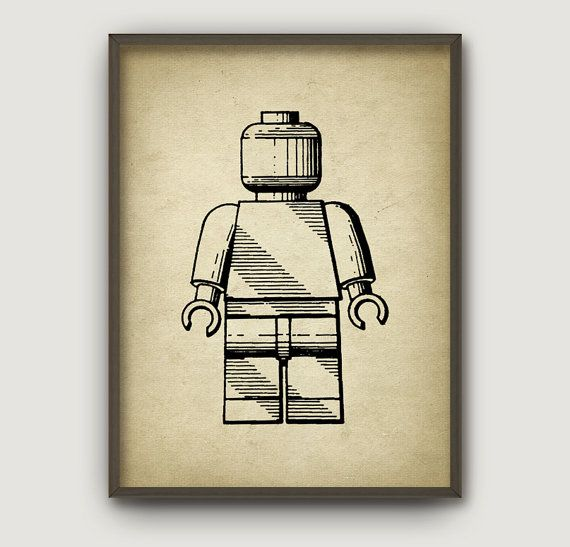 Brevet de LEGO Wall Art Poster 7 ans papier par RusticArtPrints ...