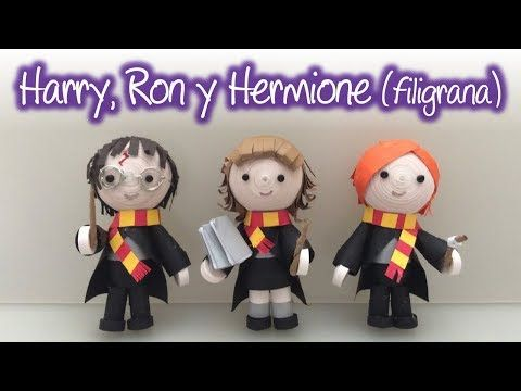 Harry, Ron y Hermione de filigrana, Harry, Ron and