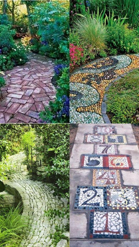 Photo of A whole bunch of beautiful & magical garden paths – style Esta … #ganzer #g …
