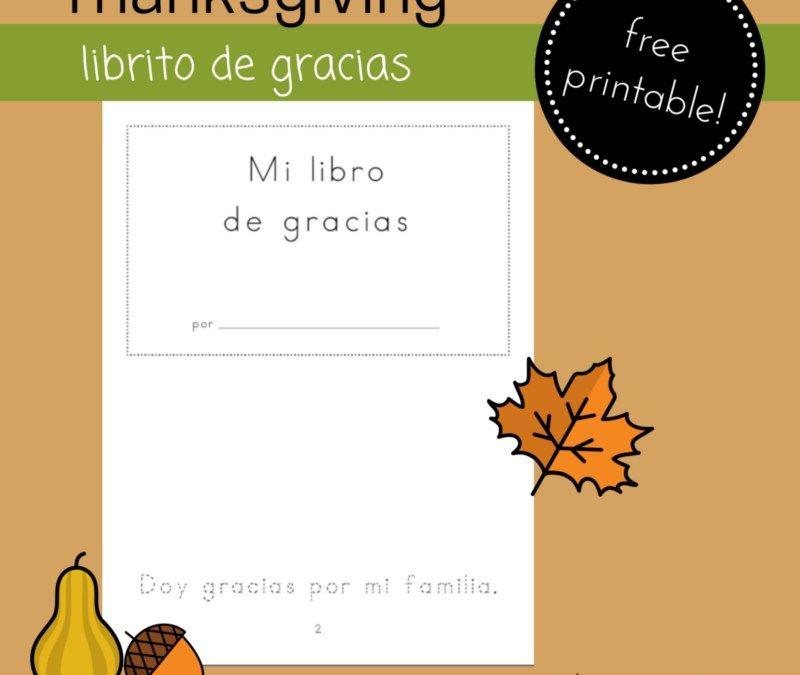 Printable Thanksgiving Minibook Mini books