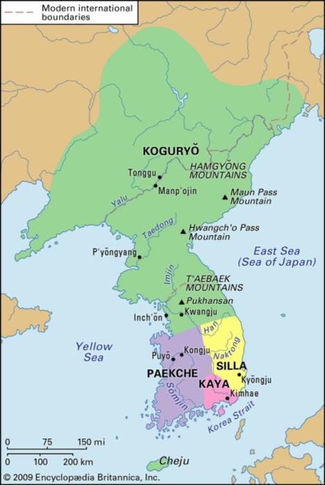 Korean Silla map