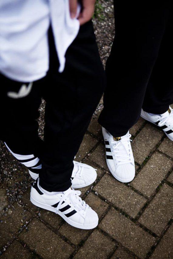Adidas Originals Superstar Casual Shoes Gold standard White