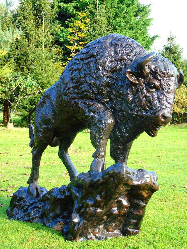 Garden Ornaments Buffalo Statue Life Size Finish