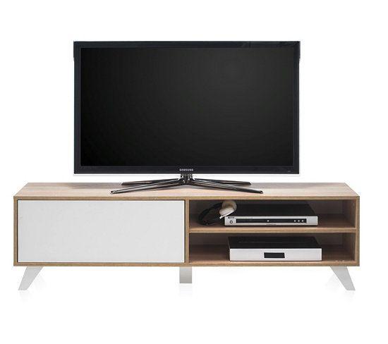 Meuble TV Scandinave HYGGE Sonoma et blanc Hygge