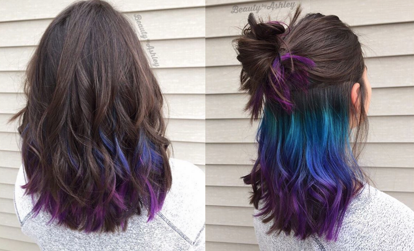 Underlights: The rainbow hair-dye you can sport at the office #hairmakeup
