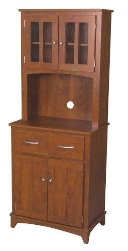Home Source Industries Oak Hills Microwave Traditional Hardwood Cabinet, Oak  Finish By Home Source Industries