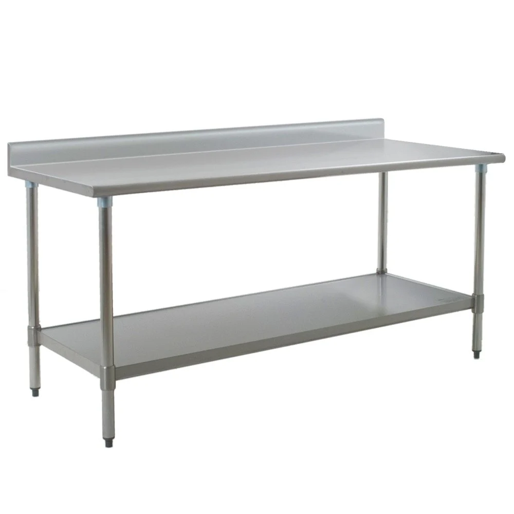 Eagle Group T3072se Bs 30 X 72 Stainless Steel Work Table With Undershelf And 4 1 2 Backsplash In 2020 Stainless Steel Work Table Eagle Group Work Table