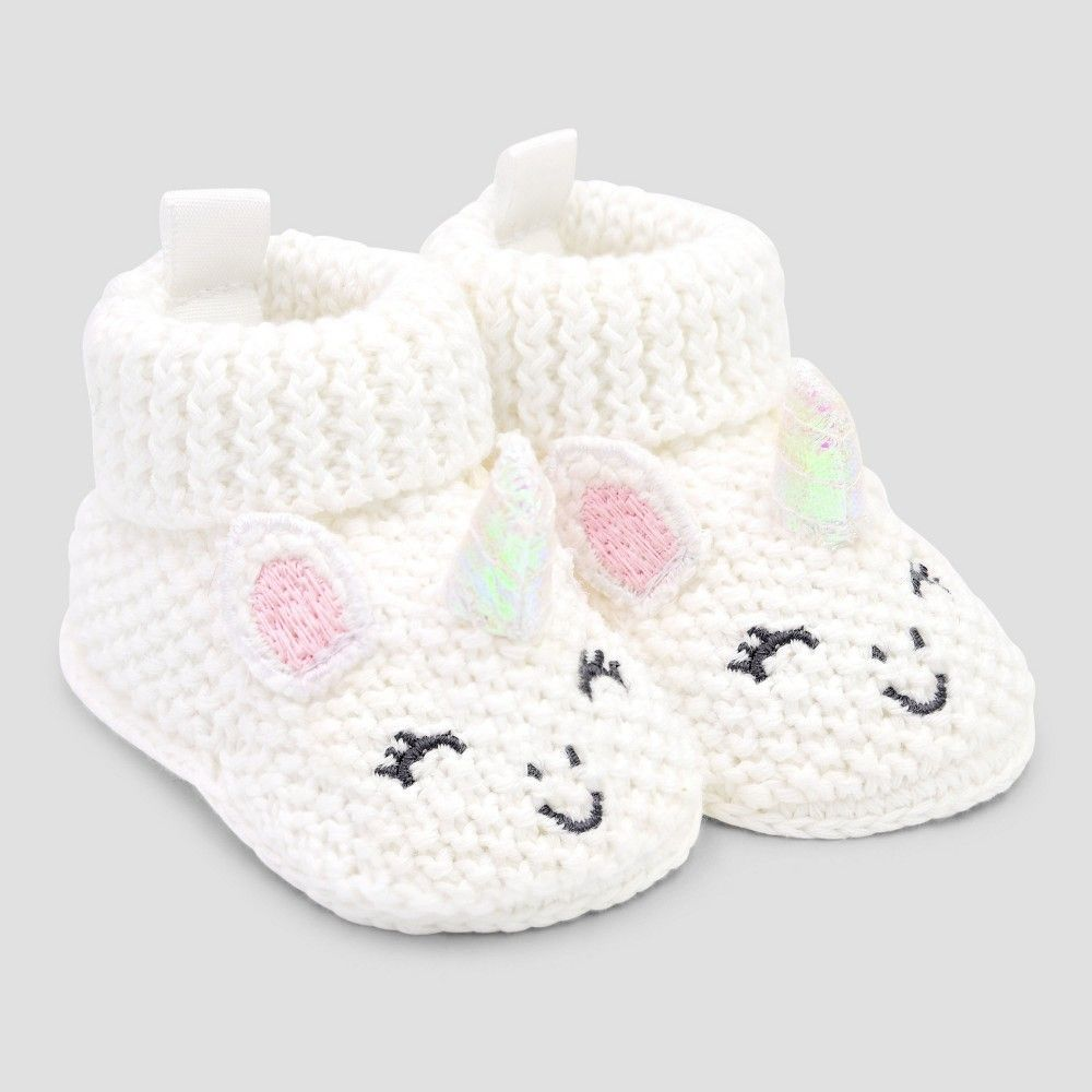 Photo of Baby Girls' Bootie Slippers – Just One You made by carter's Pink/White N…