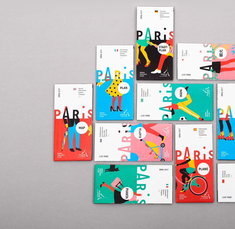 Paris Tourism Office Branding 2 Book Design Graphic Design Branding Branding Design