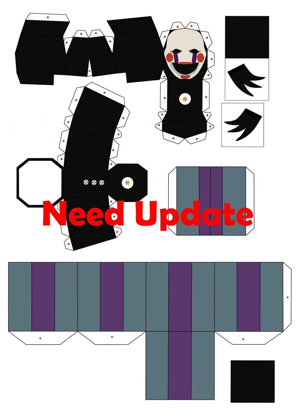 Five Nights At Freddy S 2 The Puppet Papercraft P1 By