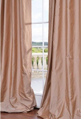 Blush Pink Silk Curtain Dupioni Window By Zylstraartanddesign